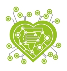 computer circuit heart electronic component vector image