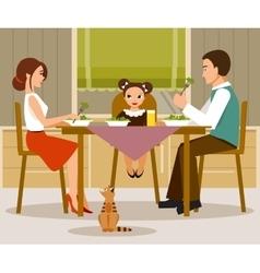Family dinner flat style vector image