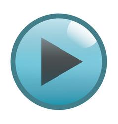 flat black play button icon vector image vector image
