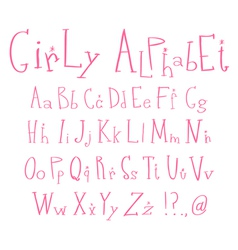 girly alphabet vector image vector image