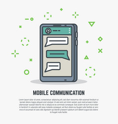mobile phone communication vector image vector image