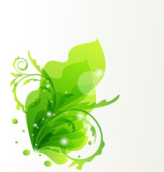 Nature transparent floral design element vector image vector image