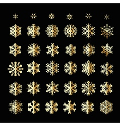 Snowflakes Christmas icons vector image vector image