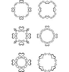 vintage heart frame vector image vector image