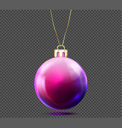 3d christmas ball isolated on background vector image vector image