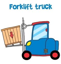 Forklift truck cartoon art vector