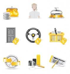 nine banking icon set vector image vector image