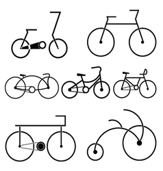 silhouette of bicycle symbol vector image vector image