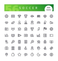 Soccer Line Icons Set vector image vector image