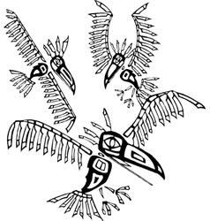 Three Ravens vector image vector image