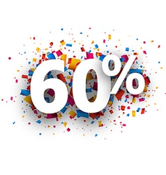 60 sale sign vector image