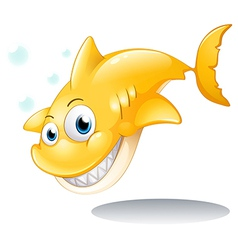 A golden yellow shark vector