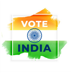 Abstract election vote india background vector