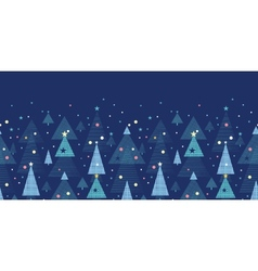 Abstract holiday Christmas trees horizontal vector