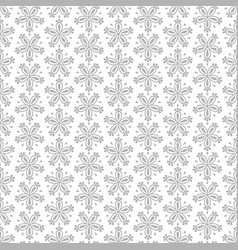 abstract seamless floral pattern with grey flowers vector image