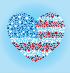 American Flag Heart vector