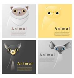 Animal portrait collection with cats 1 vector image