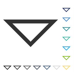 Arrowhead down icon vector