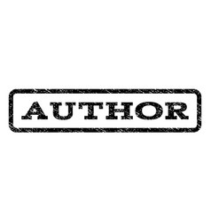 Author watermark stamp vector