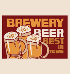 banner for best brewery beer in town vector image