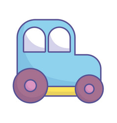bashower toy plastic car icon vector image