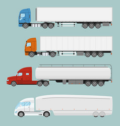 big commercial semi truck with trailer trailer vector image