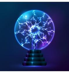 Blue plasma ball lamp vector image