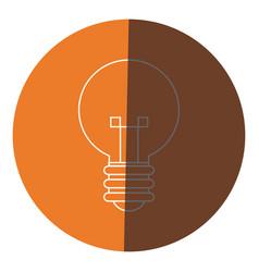bulb creative idea innovation icon circle vector image