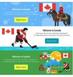 canada template for web banner or poster vector image