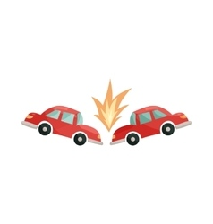 Car accident icon cartoon style vector