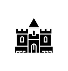 castle icon black sign on vector image