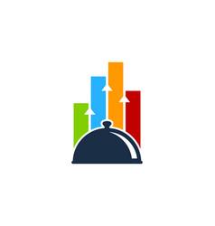 Chart food logo icon design vector