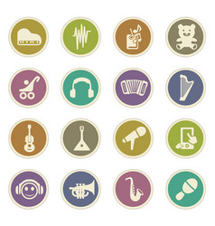 Children toys icons set vector