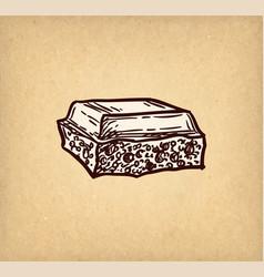 chocolate ink sketch vector image