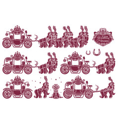 Cinderella carriage vector