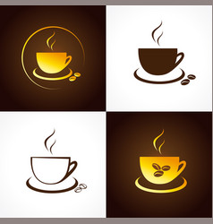 coffee house icons vector image