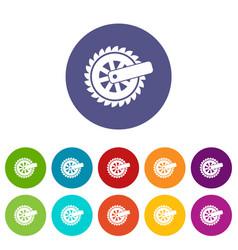 cogwheel icon simple style vector image