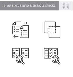 Comparison line icons vector