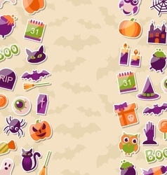 Cute Background for Halloween Party with Colorful vector image