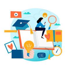 Education online training courses distance educa vector