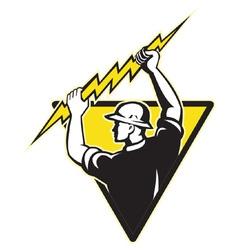electrician symbol vector image