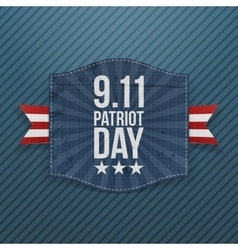 Eleventh September Patriot Day national Emblem vector