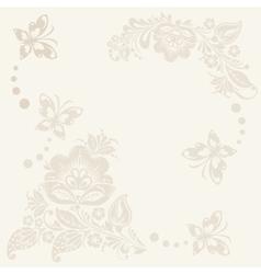 Floral rustic wedding cards beautiful vector