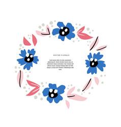 Floral wedding invitation hand drawn template vector