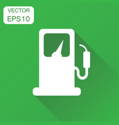 fuel gas station icon business concept car petrol vector image