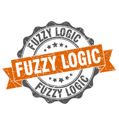 Fuzzy logic stamp sign seal vector
