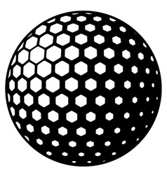 golf ball symbol vector image