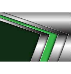 green silver arrow with dark blank space vector image