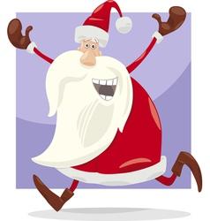 happy santa claus cartoon vector image