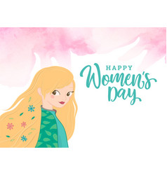 happy womens day celebration greeting card vector image